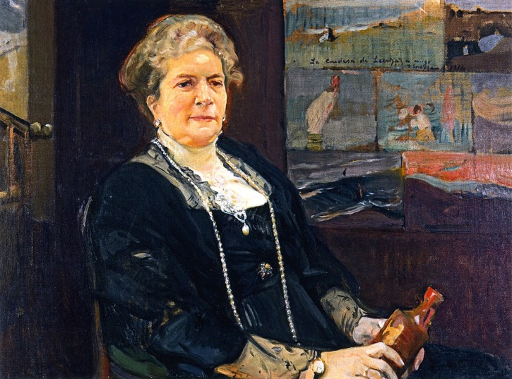 1914 Regla Manjón, Countess of Lebrija by Joaquín Bastida y Sorolla (private collection) the-athenaeum