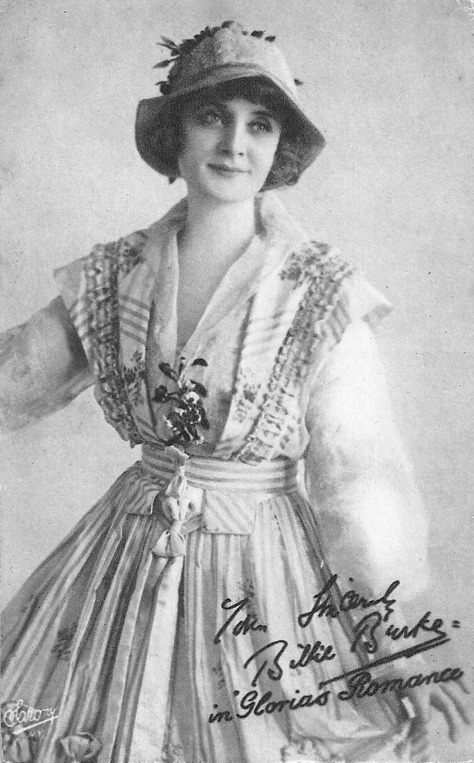 1916 Billie Burke in the serial Gloria's Romance wearing a Lucile dress by Sarony From Truus, Bob & Jan too!'s photostream on flickr detint increased contrast