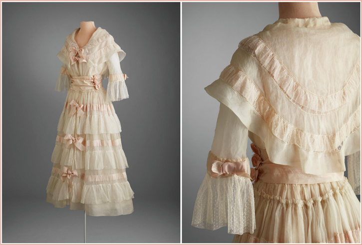 1917 Afternoon dress by Lucile (Hillwood Estate, Museum & Gardens - Washington, DC, USA) From fripperiesandfobs.tumblr.com-post-121946588458-lucile-afternoon-dress-1917-20-from-the-hillwood