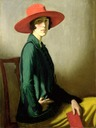 1918 Lady with a Red Hat, Vita Sackville-West by William Stang (Kelvingrove Art Gallery and Museum - Glasgow, Lanarkshire UK)