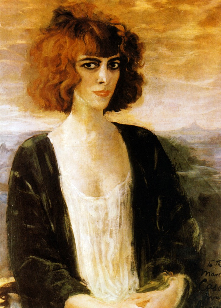 1919 Marchesa Luisa Casati by Augustus Edwin John (location ?) From pinterest.com:pin:64950419598430393:?lp=true fixed right quarter of upper edge