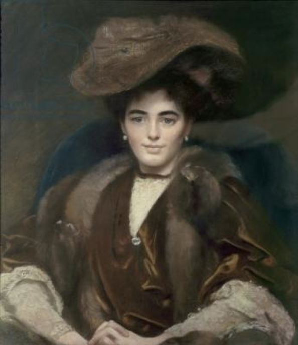 20th c. Margaret, Countess of Bradford by E. F. Wells (Weston Park - Weston-under-Lizard, Staffordshire UK) From bridgemanart