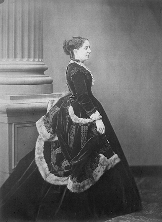 Adeline Helbert, dame noble of Queen Marie-Louise in late 1860s crinoline From porges.net:FamilyTreesBiographies:PorgesWeisweiller.html X 1.5 detint