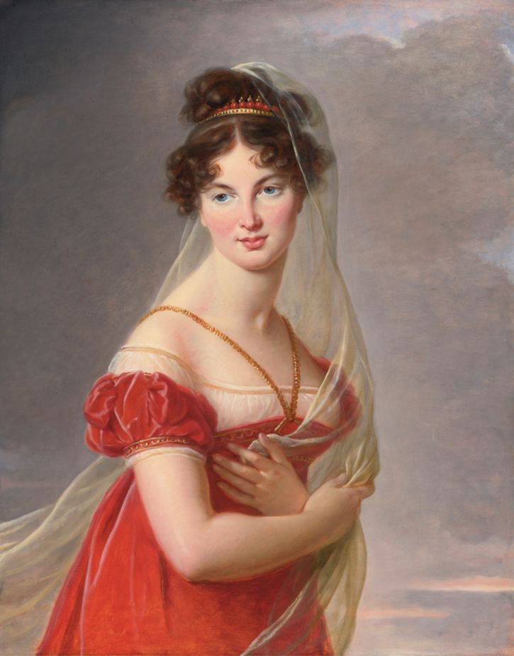 Aglaé Angélique Gabrielle de Gramont, the grand-daughter of the duchesse de Polignac, by Elisabeth Vigée-Lebrun (auctioned by Sotheby's) From the Sotheby's Web site