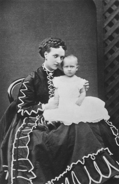 ca. 1867 (estimate based on age of child) Alexandra and little Louise From queenvictoriasfamily.tumblr.com