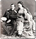ca. 1871 (estimated) Alexandra Iosifovna with Nikolai and Vera