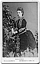 Alexandra wearing a bustle dress Hills & Saunders carte de visite