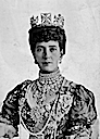 ca. 1905 Enlargement of Queen Alexandra from group portrait