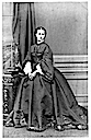 1862 Alexandra wearing crinoline with pagoda sleeves