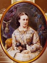 1859 (estimated) Alexandra Iosifovna with pet by ? (location unknown to gogm)