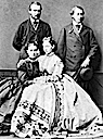 1863 Princess-Grand Duchess Alice with Princess Alexandra of Wales and Grand Duke Ludwig with Prince of Wales Albert Edward