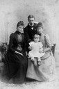 ca. 1890 (estimate based in child) Alix of Hesse with Irene and Henry of Prussia and their son