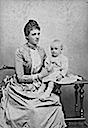 1887 (estimated) Amelie of Portugal and son Luís Felipe