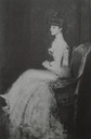 Anna de Noailles seated looking away from camera
