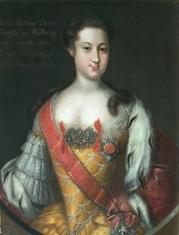 1732 Anna Leopoldovna by Johann Heinrich Wedekind (location ?)