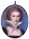 Anne Damer Miniature by Richard Cosway (National Portrait Gallery - London UK)