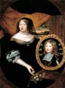 Anne holding a portrait of Louis XIV by ? (location unknown to gogm)