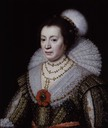 Anne, Lady Carleton by Michiel Jansz. van Miereveldt (National Portrait Gallery - London UK)