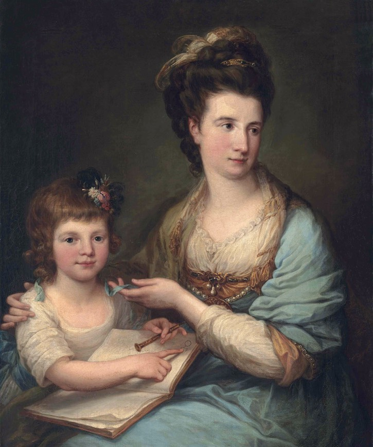 Anne Stewart, née Dashwood, Countess of Galloway (1743-1830), by Angelica Kauffmann