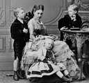 ca. 1872 (estimate based on age of children) Antonia Hohenzollern Portugal and sons
