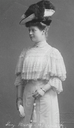 Antonia of Mecklenburg wearing a lace bertha