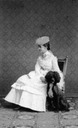 Archduchess Gisela and dog