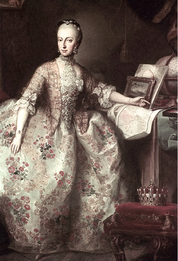 Archduchess Maria Anna of Austria by Martin van Meytens (Hofburg - Innsbruck, Tirol, Austria) From jeannedepompadour.blogspot.com:2012:03:antoinettes-brothers-and-sisters-when