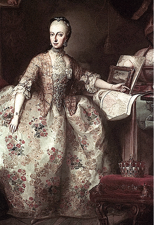 Archduchess Maria Anna of Austria by Martin van Meytens  2nd daughter From jeannedepompadour.blogspot.com:2012:03:antoinettes-brothers-and-sisters-when