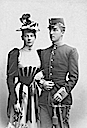 Archduke Joseph August and his wife Archdurchess Auguste by Adéle Wm spots removed throughout with Photoshop and sepia tone removed by gogm