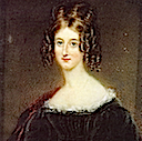 Augusta Mary Leigh, née Byron by James Holmes (location unknown to gogm)