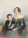 Aurora Karlovna Demidova and her son Paul (born 1839) by Laure Houssaye de Léoménil, née Girard (auctioned by Sotheby's)