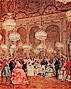 1855 Ball at the Galerie des Glaces, Versailles 25 August