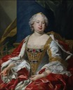 Bárbara de Bragança, reina consorte de España by Louis-Michel van Loo (Real Academia de Bellas Artes de San Fernando - Madrid, Spain) Wm removed two linear flaws in neckline region