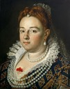 1584-1585 (probable) Bianca Cappello, Grand Duchess of Tuscany by Scipione Pulzone (Kunsthistorisches-museum - Wien Austria)