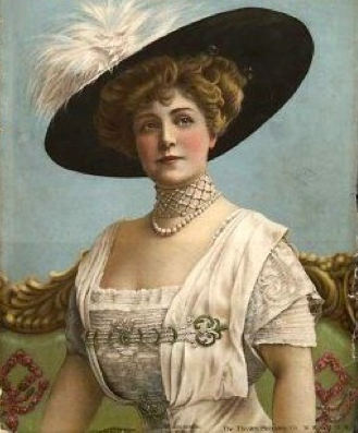 Blanche Maynard, Lady Algernon Gordon-Lennox wearing a wide hat from theesotericcuriosa.blogspot of 18Jul11