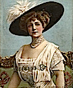 Blanche Maynard, Lady Algernon Gordon-Lennox wearing a wide hat