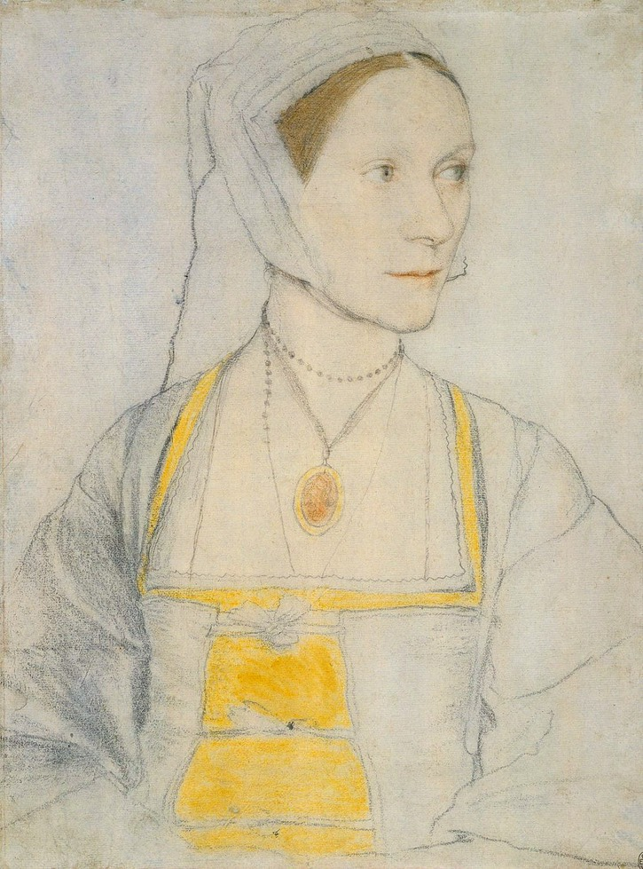 ca. 1527 Cecily Heron, daughter of Sir Thomas Moore, by Hans Holbein the Younger (Royal Collection, Windsor Castle - Windsor, Berkshire, UK) From Peter's photostream on flickr