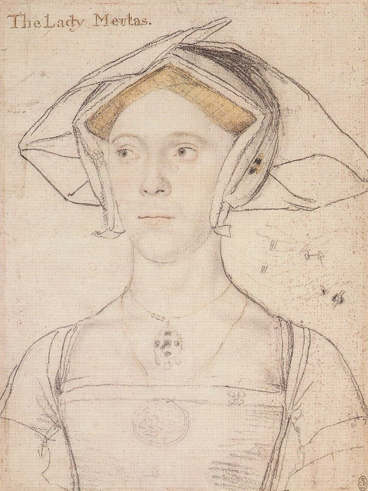 ca. 1536 Lady Meutas, née Astley by Hans Holbein the Younger (location ?) Wm