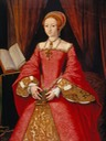 ca. 1546 Elizabeth I when a Princess attributed to William Scrots (Royal Collection) Google Art Project via Wm