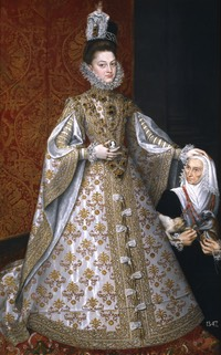 ca. 1586 Isabel Clara Eugenia with Magdalena Ruiz by the studio of Alonso Sanchez Coello (Museo Nacional del Prado - Madrid, Spain) inc. exp. shadows
