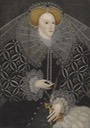 ca. 1595 Elizabeth of England once at Ampleforth Abbey by ? (auctioned by Sotheby's) Wm deflaw fold line in skirt