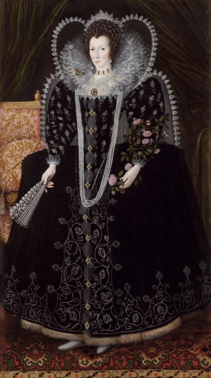 ca. 1601 Frances Howard, dowager Countess of Kildare (c.1572 - 1628), later Baroness Cobham by ? (private collection) From Weiss gallery Web site deprint size fixed at 53.45 cm high at 28.35 pixels:cm