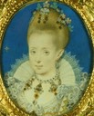ca. 1610 Elizabeth Bohemia by Isaac Oliver (Royal collection)