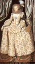 ca. 1613 Catherine Lyte Howard by William Larkin (location unknown to gogm)