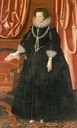 ca. 1615 Elizabeth Drury, Countess of Exeter by William Larkin (Kenwood House - Hampstead, London, UK) Wm shadows