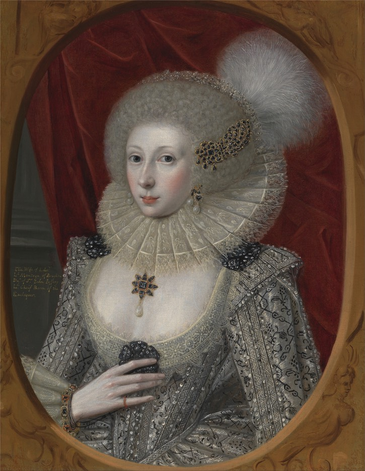 ca. 1616 Woman, possibly Frances Cotton, Lady Montagu, of Boughton Castle, Northamptonshire by Robert Peake the Elder (Yale Center for British Art - New Haven, Connecticut, USA) GAP via Wm full