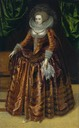 ca. 1620 (according to Google Art Project) Anne Wortley, later Lady Morton by ? (Tate Collection)