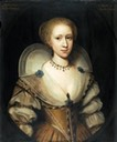 ca. 1620 Margaret Stuart, Lady Mennes, great-great granddaughter of Mary Boleyn attributed to Cornelius Janssens van Ceulen (Roy Precious Antiques and Fine Art)