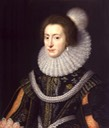 ca. 1623 Elizabeth, Queen of Bohemia by Michiel Jansz. van Miereveldt (National Portrait Gallery - London UK)