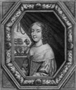 ca. 1660 Claire Clémence de Maillé as Princess of Condé in 1663 by Moncornet